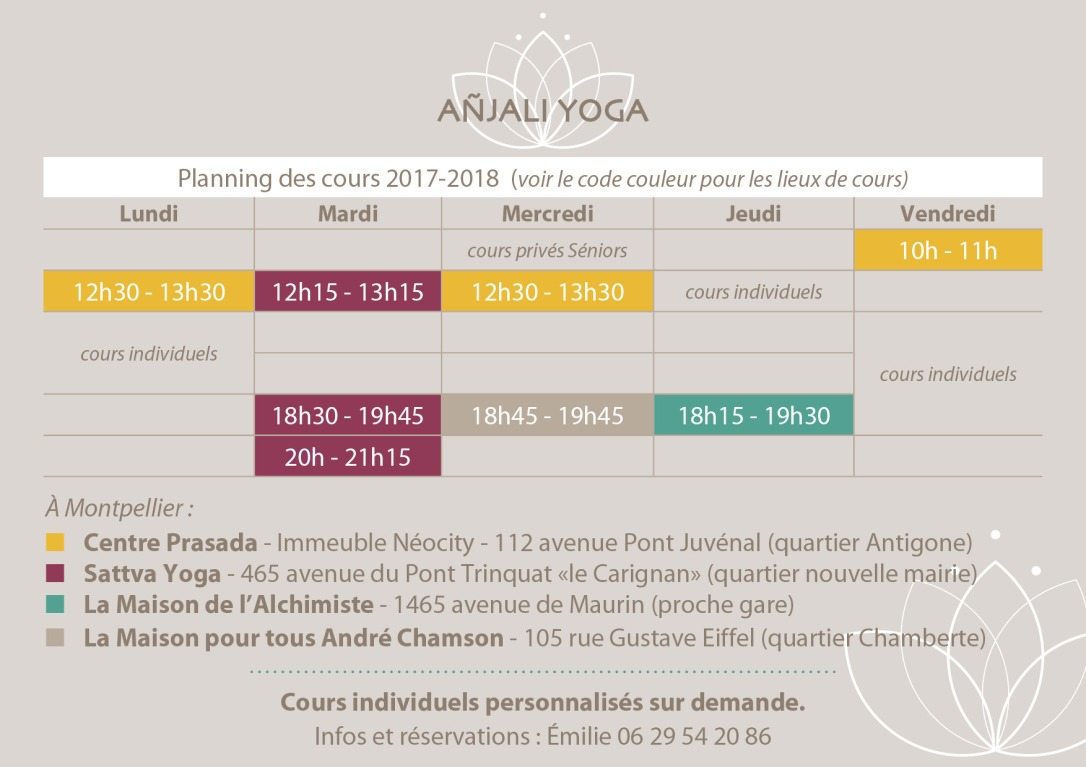 Cours yoga Montpellier