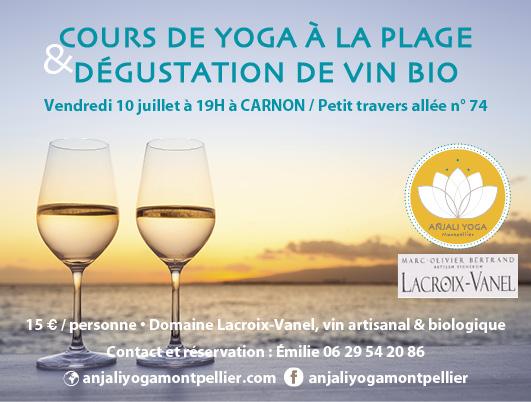 2020 Cours Carnon yoga dégustation vin
