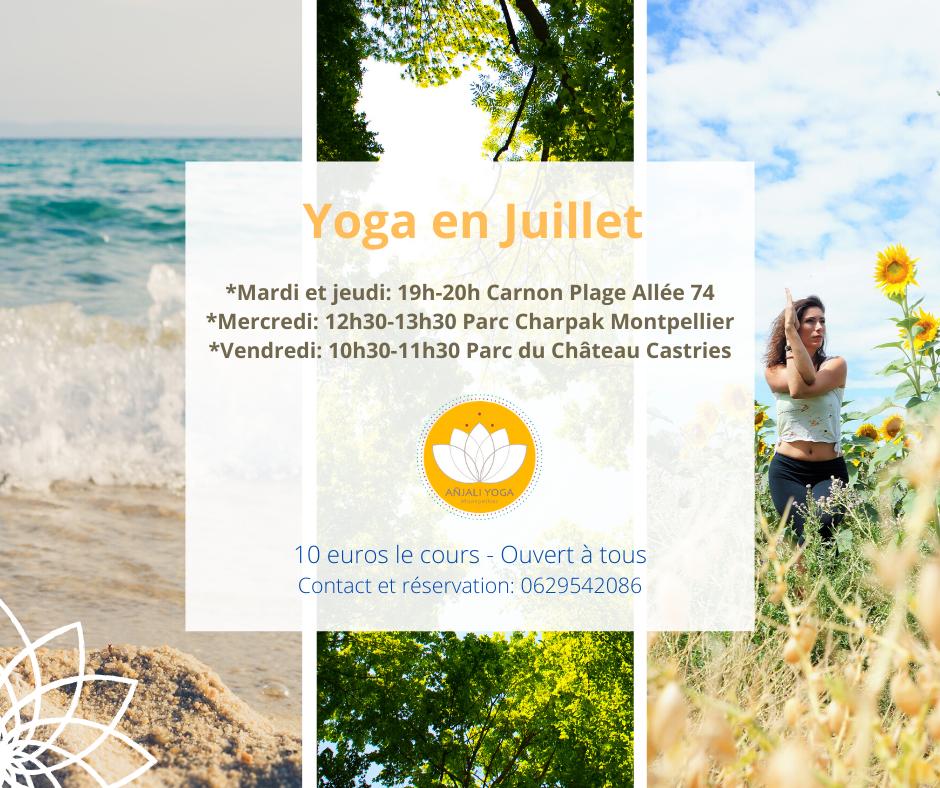 yoga montpellier en juillet